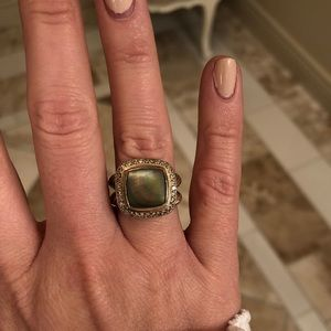 David Yurman Mother of Pearl 11mm Ring